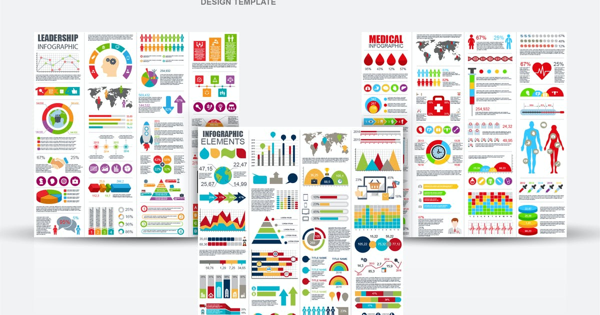 Download Set of Flat Business Infographic Elements by alexdndz