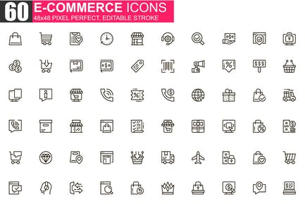 E-commerce Thin Line Icons Pack