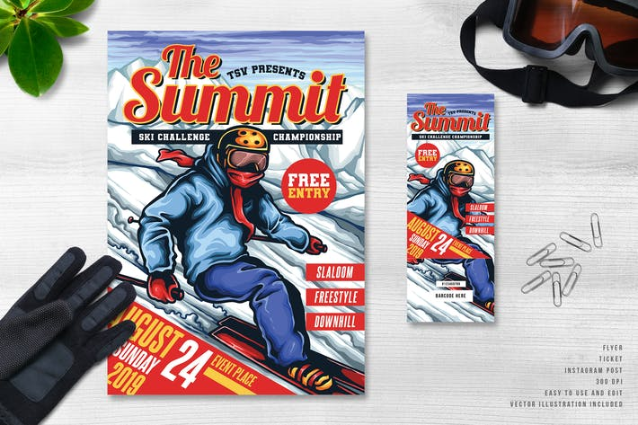 Thumbnail for The Summit Ski Sport Event Flyer