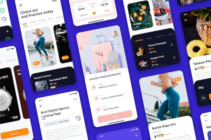 Lithium - Multipurpose Card-based UI Kit