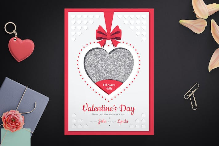 Thumbnail for Valentine's day flyer template