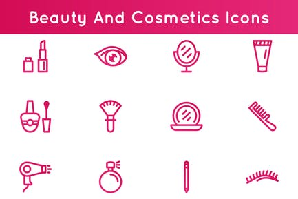 Beauty Und Kosmetik Icons