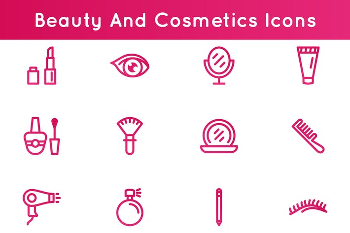 Cover Image For Beauty And Cosmetics Icons