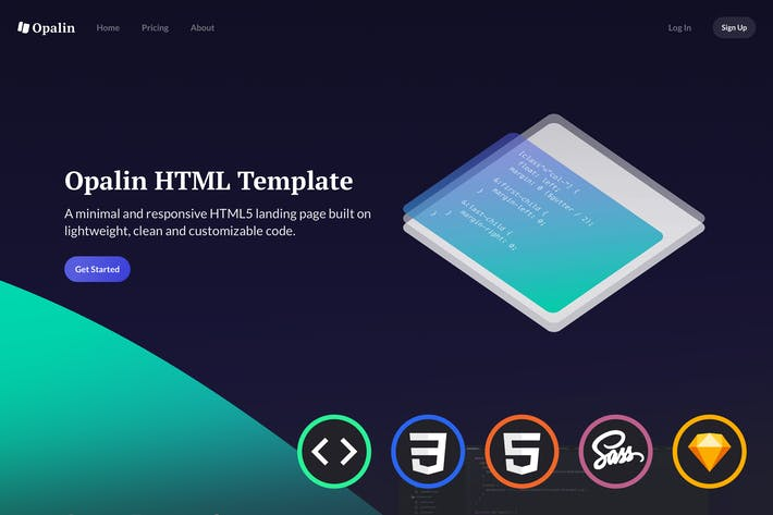 Cover Image For Opalin - Startup HTML Template
