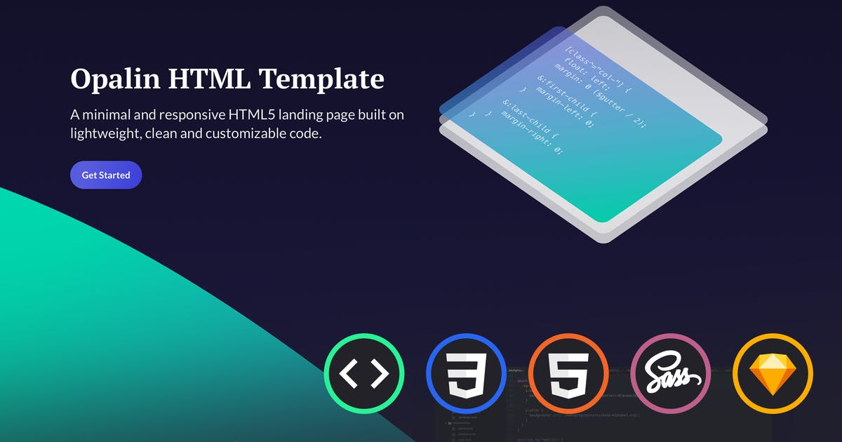 Download Opalin - Startup HTML Template by uiuxassets