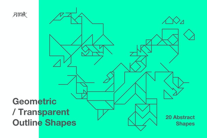 Thumbnail for Geometric Transparent Outline Shapes