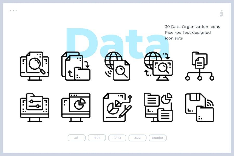 30 DatenorganisationssIcons
