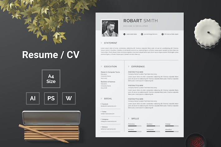 Thumbnail for Resume Template 129