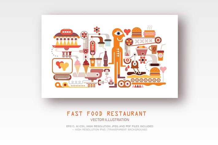 Thumbnail for Fast Food Restaurant illustration Vecteur 2 options