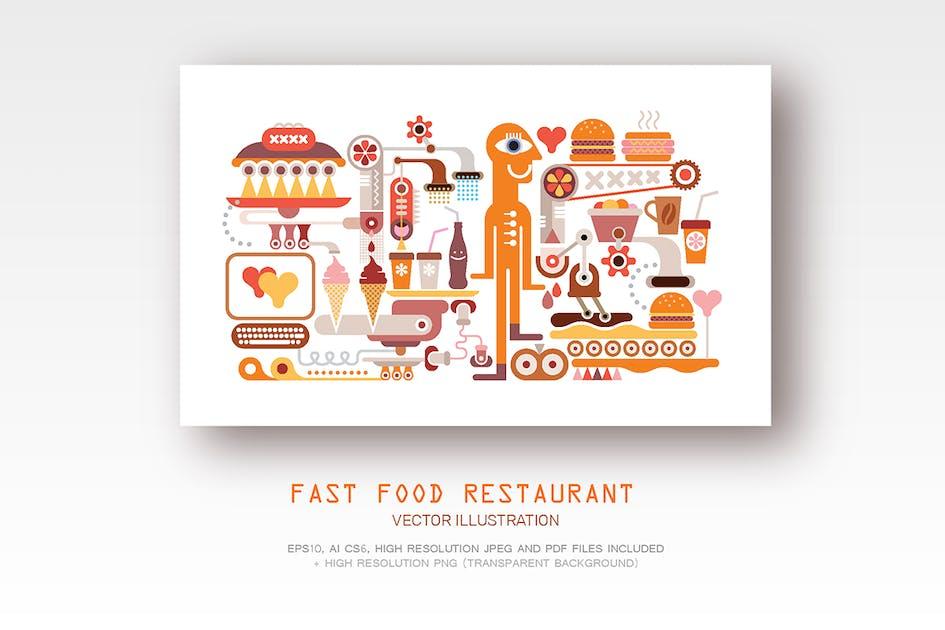 Download Fast Food Restaurant vector illustration 2 options by danjazzia