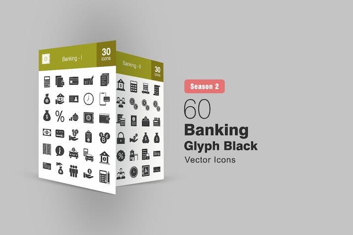 Thumbnail for 60 Banking Glyph Icons Season II