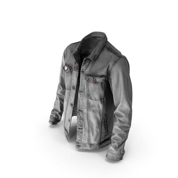 Мужская джинсовая куртка темно-серый
