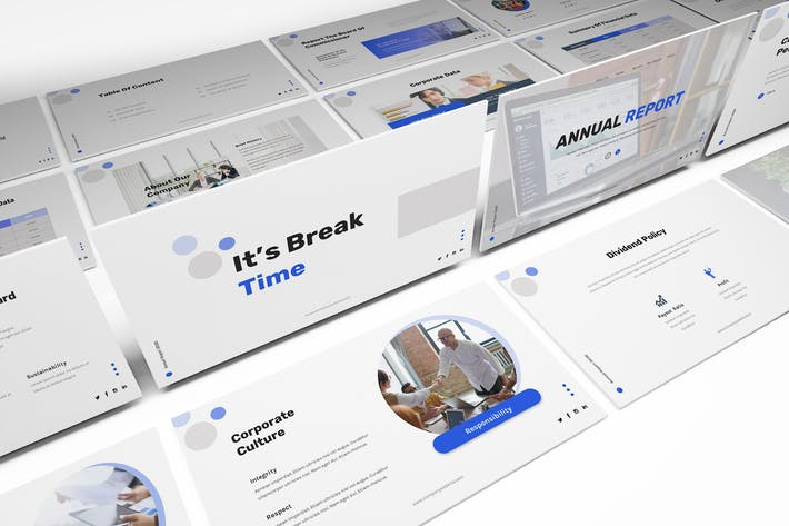 Thumbnail for Annual Report Powerpoint Template