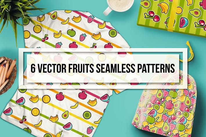 Thumbnail for Happy Fruits Seamless Patterns
