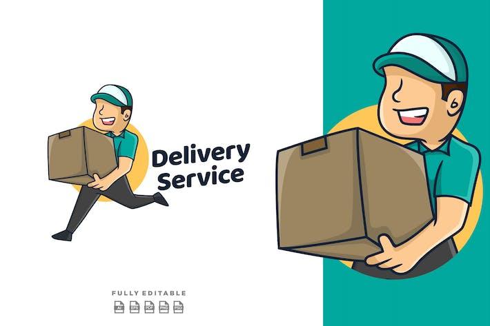 Delivery Service Retro Mascot