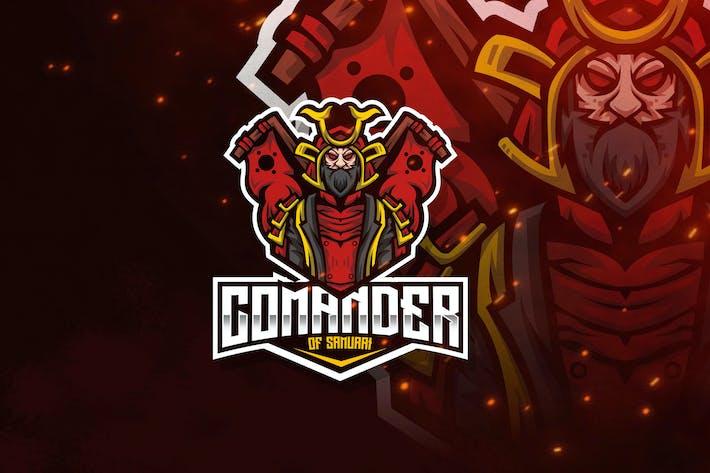 Thumbnail for Comander of Samurai Esport Logo Template