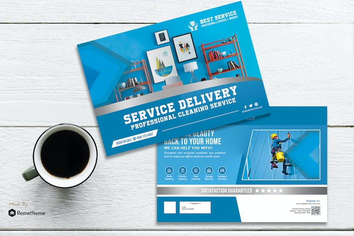 Thumbnail for Sikatbro - Delivery and Cleaning Postcard HR