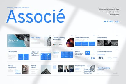 Associé-Pitch Deck and Business Presentation