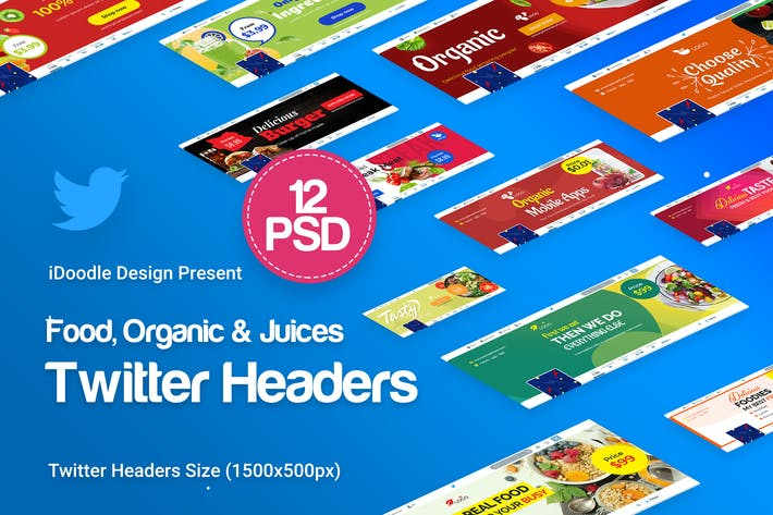 Thumbnail for Food, Organic & Juices Twitter Headers