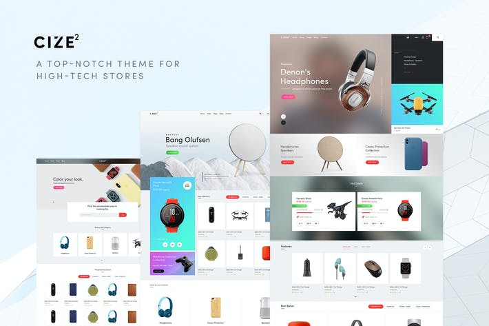 Cize - A Top Notch Theme For High Tech Stores