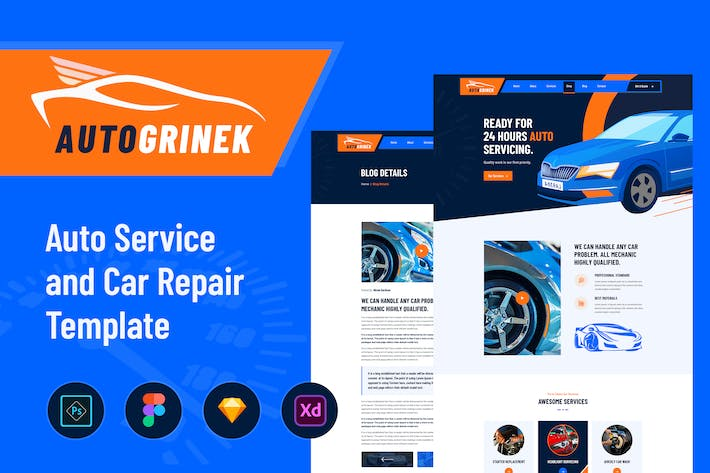 Thumbnail for Autogrinek - Auto Service and Car Repair Template