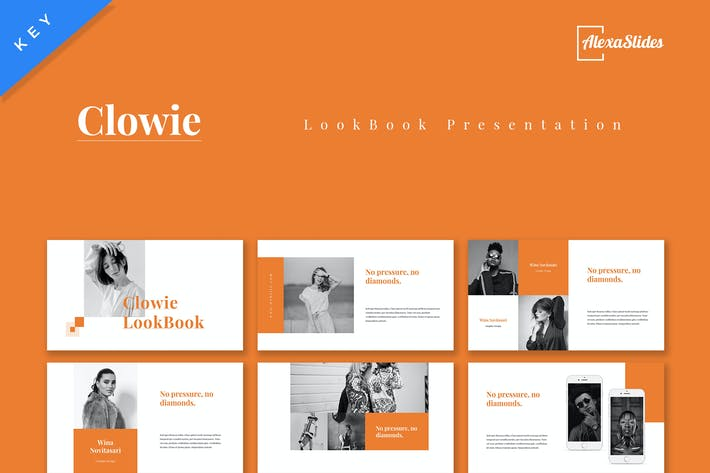 Thumbnail for Clowie - Lookbook Keynote Presentation Template