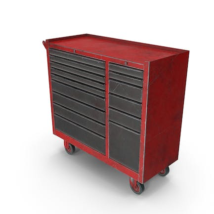 Closed ToolBox Red Used