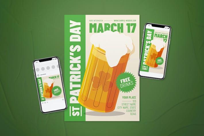 St. Patrick's Day Flyer Set