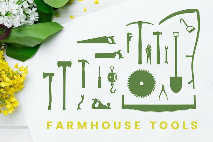 Thumbnail for Farmhouse Tool Silhouettes
