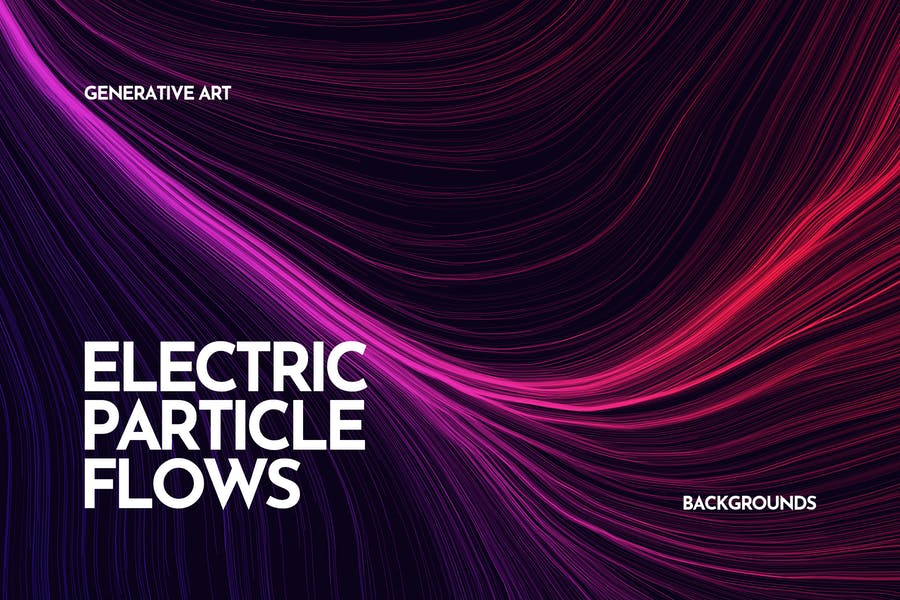Electric Particle Flows Backgrounds