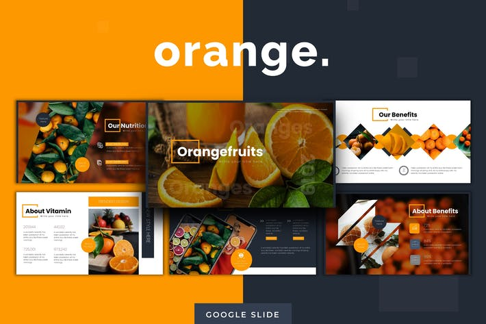 Cover Image For Oranges - Google Slides Template