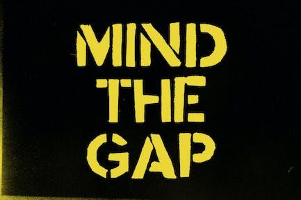 Fuente de la plantilla Mind the Gap