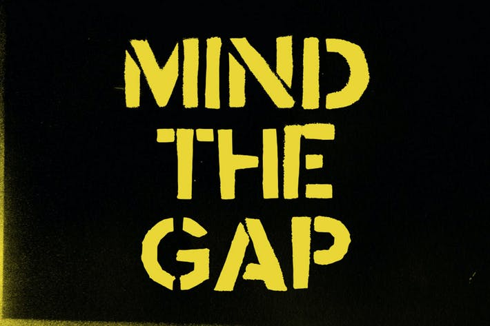 Thumbnail for Stencil font Mind the Gap