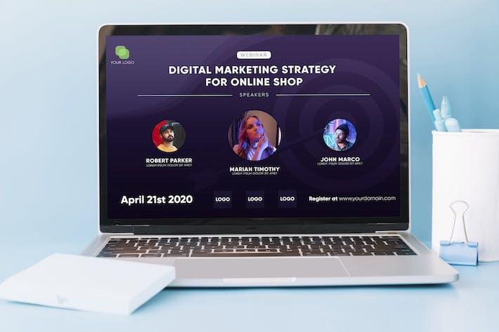 Webinar - Digital Flyer Template