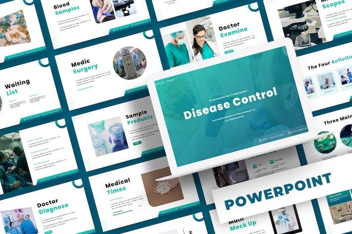Контроль заболеваний - Шаблон Powerpoint