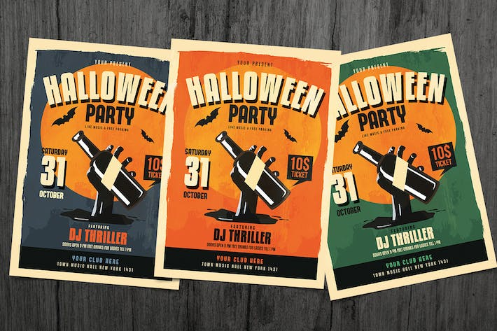 Cover Image For Halloween Party Flyer