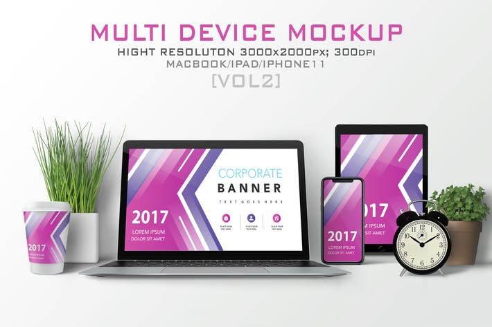 Thumbnail for Multi Devices Mockup [vol2]