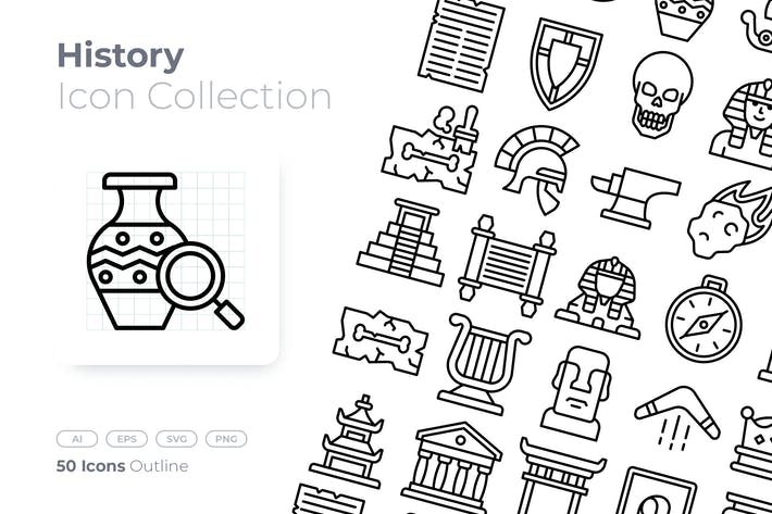 History Outline Icon