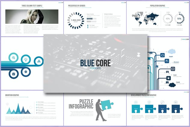 BLUE CORE Powerpoint