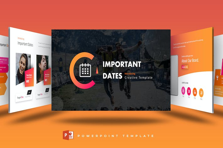 Cover Image For Important Dates - Powerpoint Template