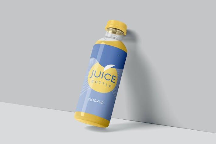 Thumbnail for Transparente Kunststoff-Saftflaschen-Mock-ups