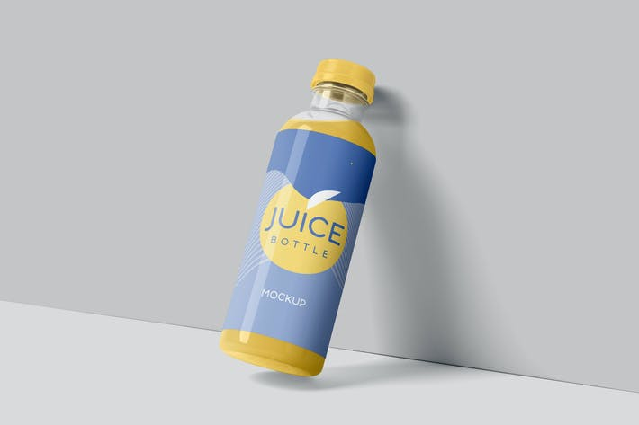 Thumbnail for Transparent Plastic Juice Bottle Mockups