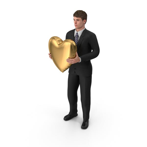 Thumbnail for Businessman John Holding Heart