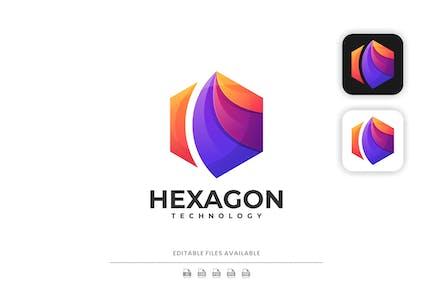 Hexagon Gradient Colorful Logo