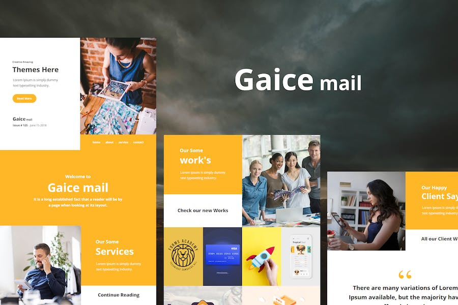 Gaice Mail - Responsive E-mail Template