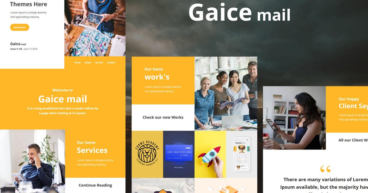 Download Gaice Mail - Responsive E-mail Template by williamdavidoff