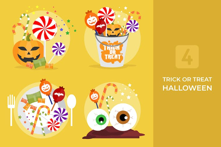 Thumbnail for Trick or Treat Halloween - Vector Illustration