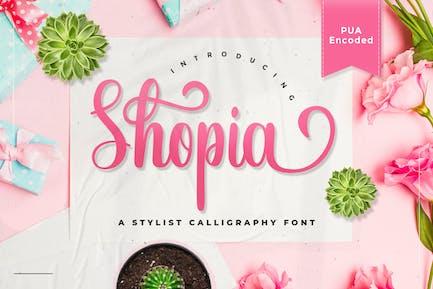 Shopia - Police de calligraphie élégante