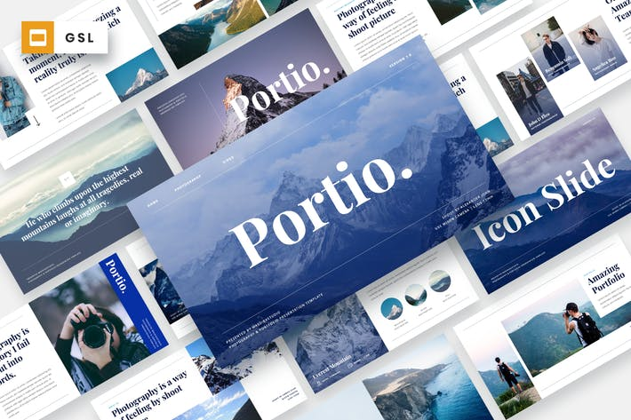 Thumbnail for Portio - Фотография Google Слайды Шаблон