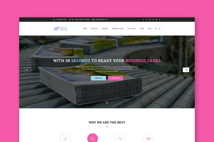 Thumbnail for Website PSD Template
